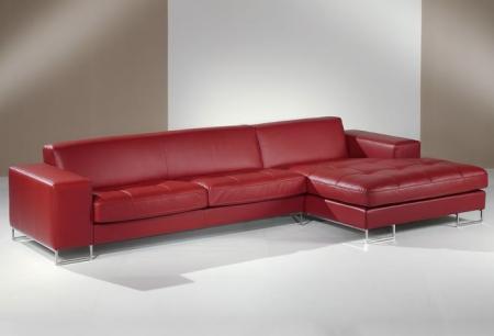 canape design en cuir scala avec longchair panoramique grand. Black Bedroom Furniture Sets. Home Design Ideas