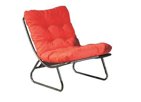 ikko fauteuil design capitonne orange rouge. Black Bedroom Furniture Sets. Home Design Ideas