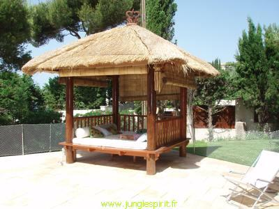 Abri de jardin paillote bali for Prix abri de piscine 8 par 4