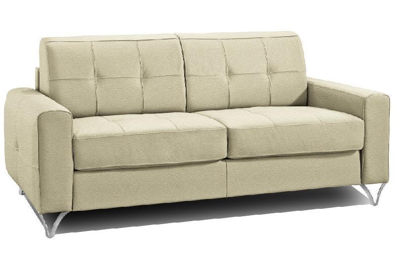 canap fixe design capitonn squadra 2 3 places cuir beige. Black Bedroom Furniture Sets. Home Design Ideas