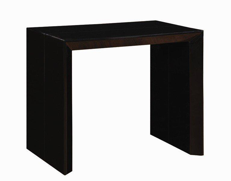 console extensible en table repas extenso deluxe noir mat. Black Bedroom Furniture Sets. Home Design Ideas
