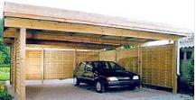 garage - carport en bois a toit plat - Construire Garage Bois Toit Plat