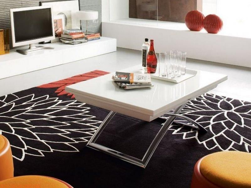 Calligaris table basse relevable extensible italienne - Table basse relevable design italien ...
