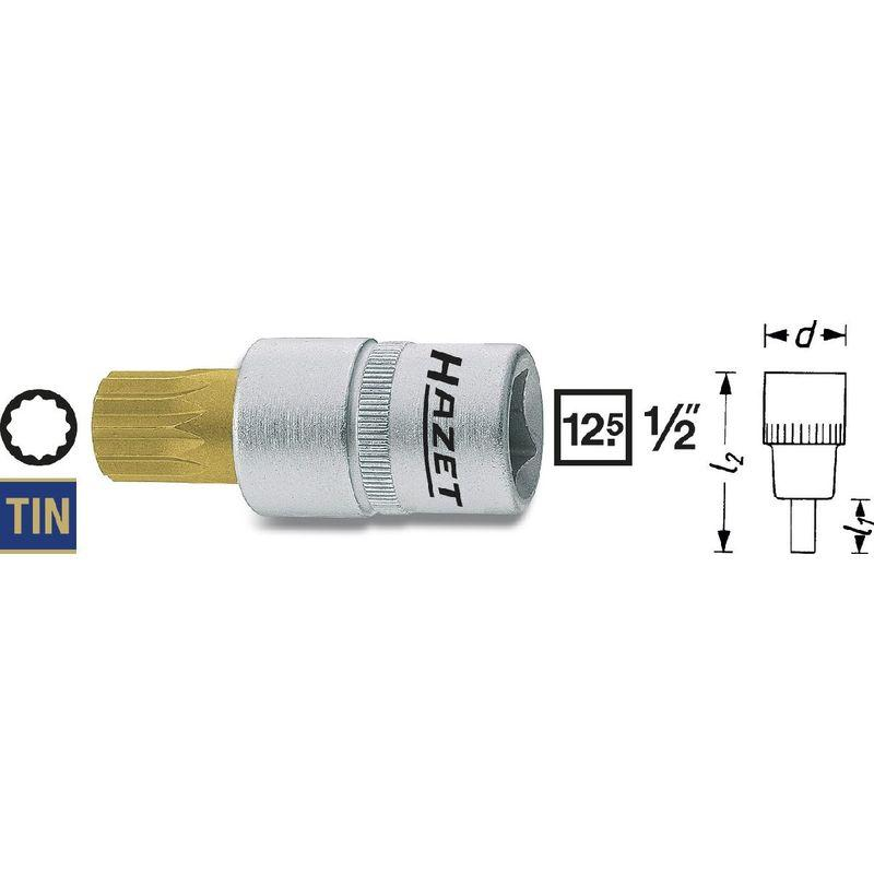 Hazet 1//2 Écrou de Tournevis à Frapper Douille Clés à Intérieur Torx Profil