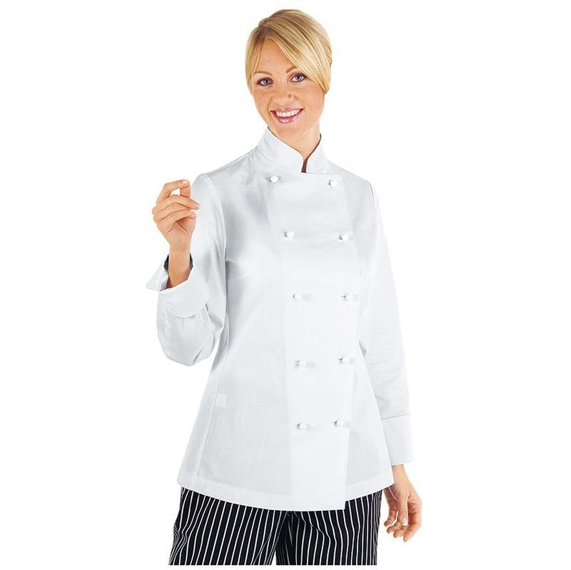 De Veste Coton Isacco Manches Blanc 100 L Longues Cuisine Femme xgqgfwBdZ