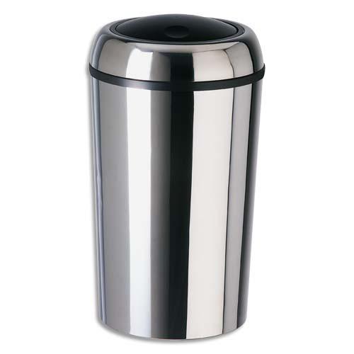 rossignol poubelle swingy ronde couvercle basculant inox 50 litres comparer les prix de. Black Bedroom Furniture Sets. Home Design Ideas