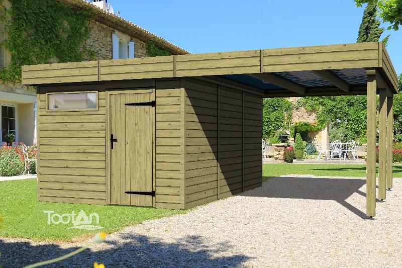 Tootan produits abris de jardins for Bordure jardin bois leclerc