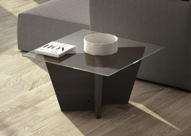 Wengé Plateau Verre Petite Oliva Design Basse Table Bois Temahome RAqc3LjS54