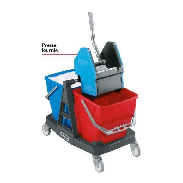 PACK CHARIOT ENTRETIEN DUO RUBBERMAID - CHARIOT ENTRETIEN 2X18L  DUO TOP QUALITÉ RUBBERMAID