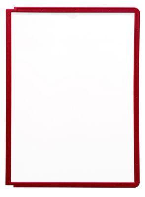 durable pochette transparente avec cadre plastique pour format a4 lot de 10 rouge comparer. Black Bedroom Furniture Sets. Home Design Ideas