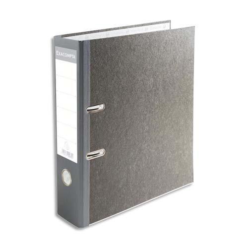 Classeur levier exacompta classeur en carton gris avec perforateur dos 70mm comparer les - Prix d un perforateur ...