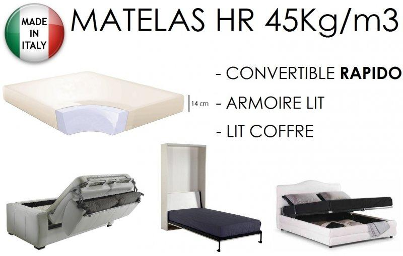 matelas epaisseur 14cm pour canape convertible couchage 140 190 cm. Black Bedroom Furniture Sets. Home Design Ideas