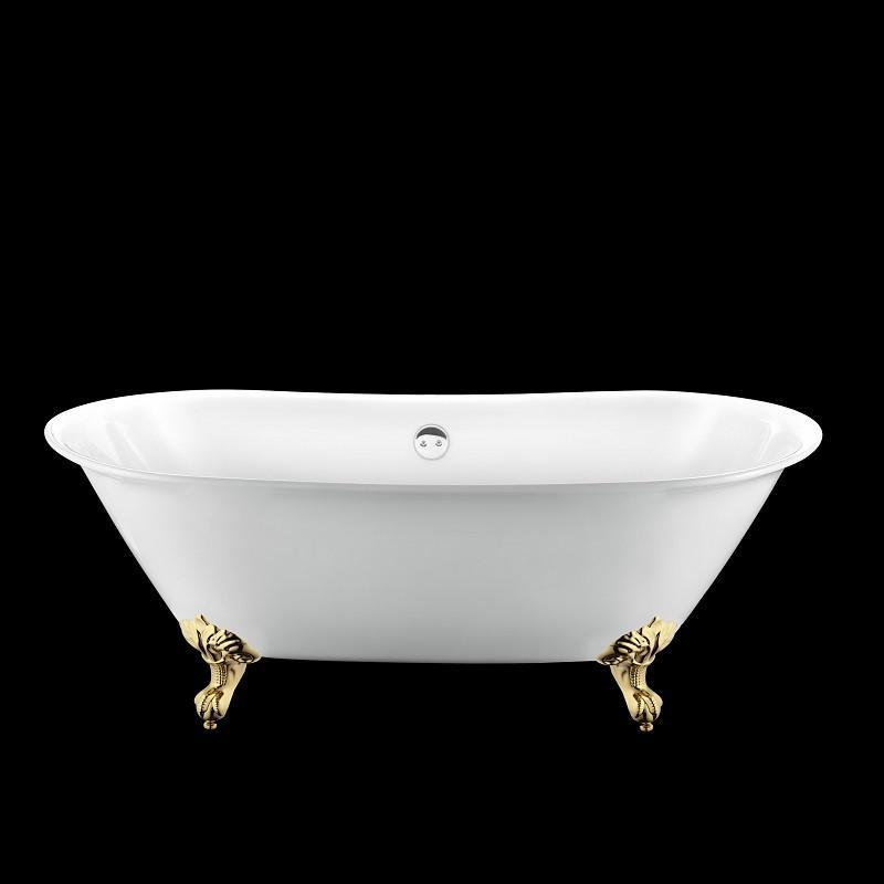 baignoire r tro surry hills 165 blanche avec pattes d 39 aigle dor es comparer les prix de. Black Bedroom Furniture Sets. Home Design Ideas