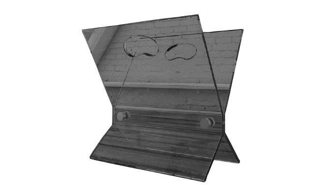 Loft porte documents en verre teinte gris