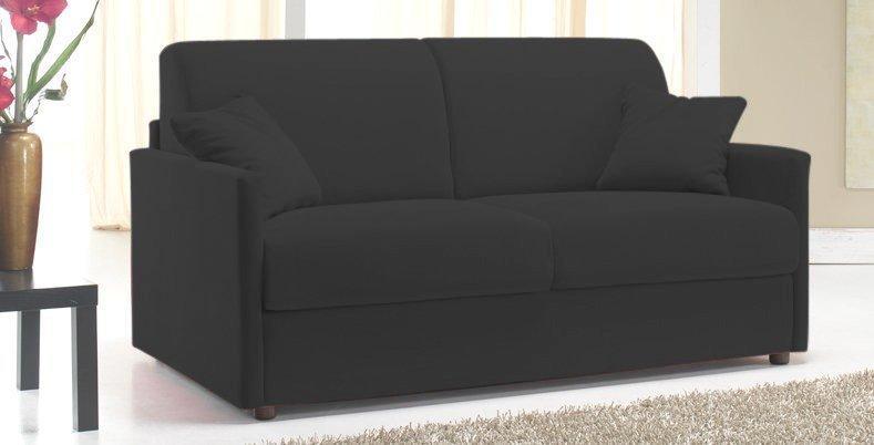 canape rapido sun 120cm cuir vachette recycle noir. Black Bedroom Furniture Sets. Home Design Ideas