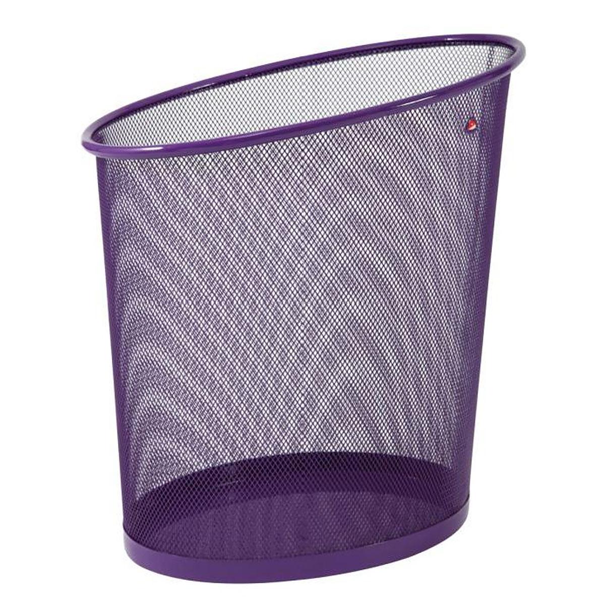 corbeille papier en m tal violet 18l parure mesh comparer les prix de corbeille papier. Black Bedroom Furniture Sets. Home Design Ideas