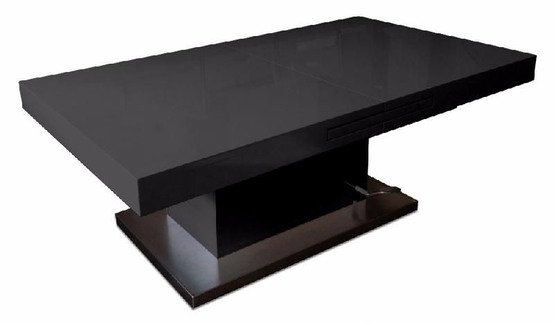 table basse relevable extensible setup noir brillant comparer les prix de table basse relevable. Black Bedroom Furniture Sets. Home Design Ideas