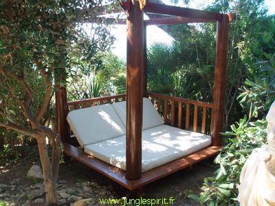 Lit de jardin kho samui - référence : ljks-2x2-ph30-fo
