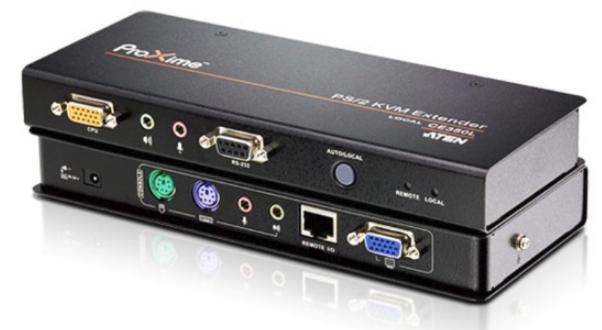 CE350 - DÉPORT KVM VGA CÂBLES CAT.5E USB / MINI-JACK / RS-232 / SÉRIE / PS-2