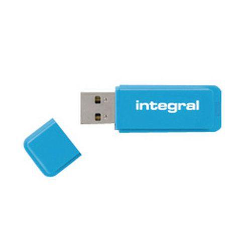 CLÉ USB NÉON 64 GB 2.0 BLEU