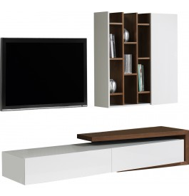 composition design meuble tv noyer etageres. Black Bedroom Furniture Sets. Home Design Ideas