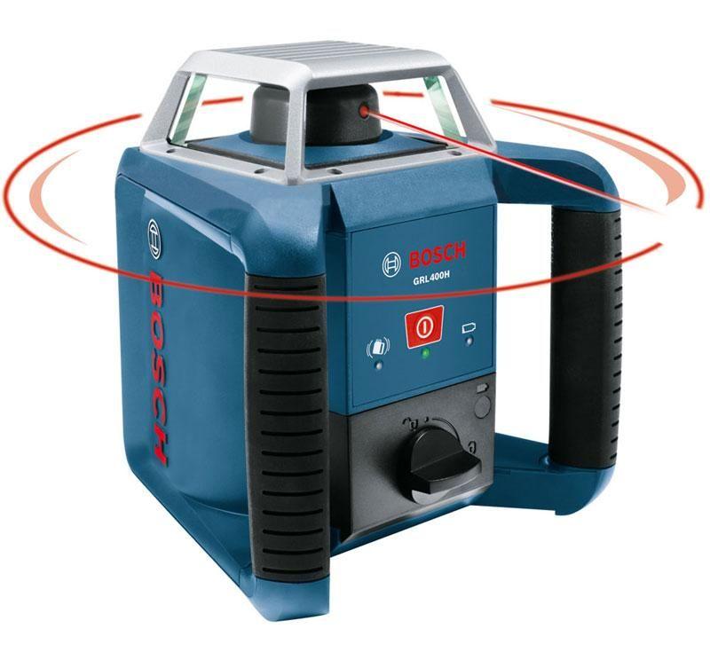 Laser rotatif grl 400 h bosch professional 0601061800 for Niveau laser exterieur bosch