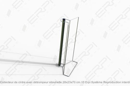 Collecteur de cintre avec détrompeur silouhette 28x23x70 cm - collecteur0003z