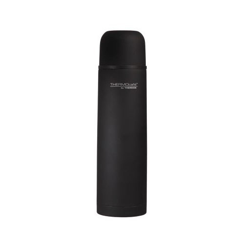 bouteille isotherme inox 1l caoutchouc noir everyday thermos comparer les prix de bouteille. Black Bedroom Furniture Sets. Home Design Ideas