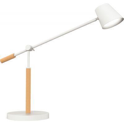 Lampe led vicky bois et blanc