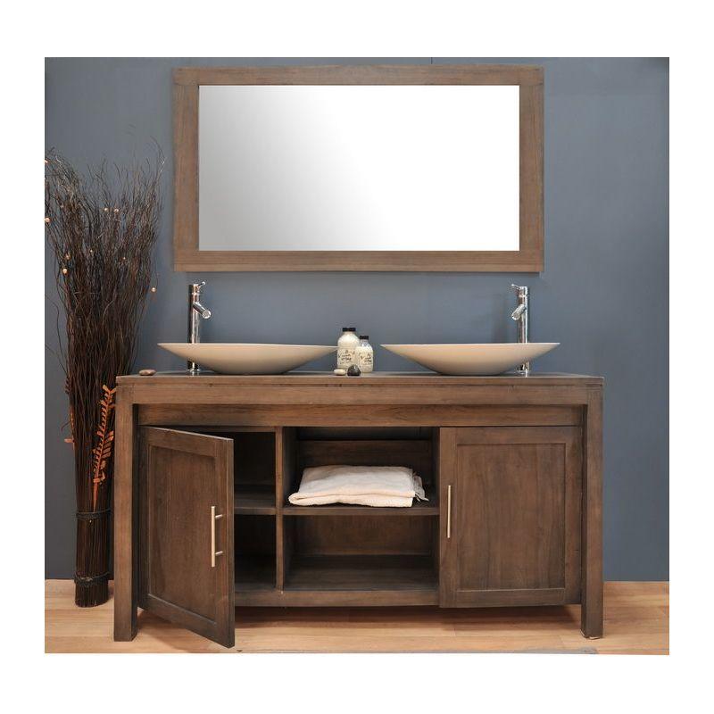 meuble salle de bain teck saniteck