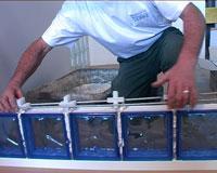 Joint mortier cadre aluminium pret a sceller - Mortier pour brique de verre ...