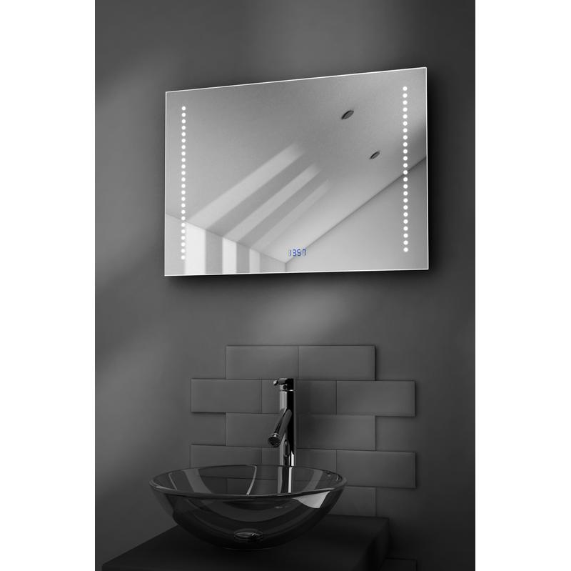 miroir salle de bain ultra fin avec horloge capteur k192 et antibu e beatrix diamond x. Black Bedroom Furniture Sets. Home Design Ideas