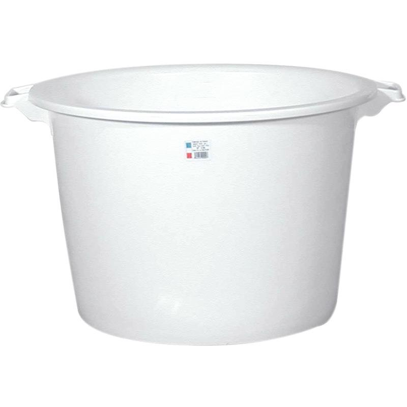 BASSINE RONDE ALIMENTAIRE - 120 L - BLANC - FINISH