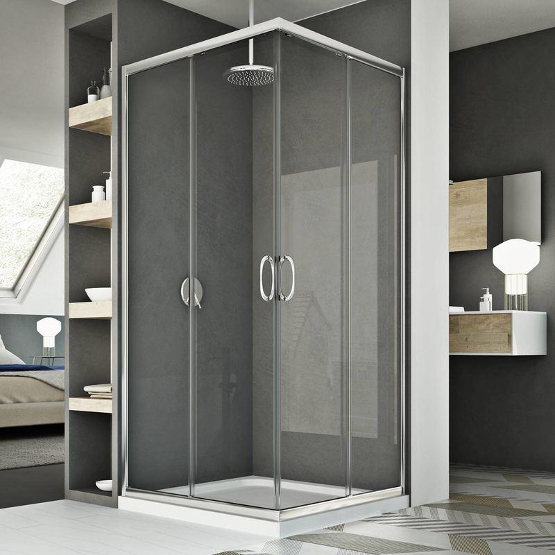 cabine douche 72x72cm h185 transparent mod le junior idralite comparer les prix de cabine. Black Bedroom Furniture Sets. Home Design Ideas