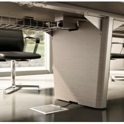goulotte guide cables sous plateau x10 officity. Black Bedroom Furniture Sets. Home Design Ideas
