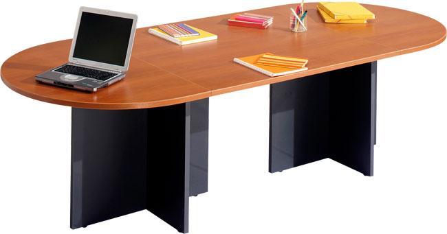 TABLE RÉUNION OVALE 140X110 AV 1 PIED CROIX QUATUOR