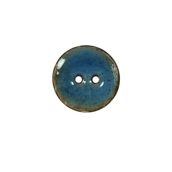 Bouton 2 trous imitation c ramique bleu bouton 20 - Imitation ceramique autocollante ...