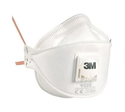 masque anti poussi res ffp3 avec soupape 9332 3m boite de 10 comparer les prix de masque anti. Black Bedroom Furniture Sets. Home Design Ideas