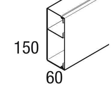 REHAU - GOULOTTE AVEC CLOISON LE 150X60 2 M - 17332751100