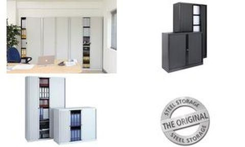 bisley etageres avec dispositif de soutien lateral noir. Black Bedroom Furniture Sets. Home Design Ideas
