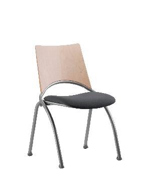 chaise mixte alinea dossier bois pietement alu assise tissu noir. Black Bedroom Furniture Sets. Home Design Ideas