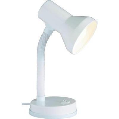 LAMPE DE TABLE BRILLIANT JUNIOR 40 W BRAS PIVOTANT BLANC
