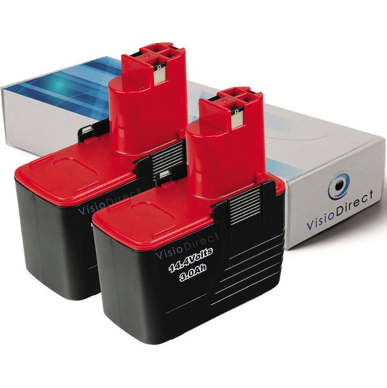 Lot de 2 batteries 14.4V 3000mAh pour Black et Decker HP146F2B HP146F3B