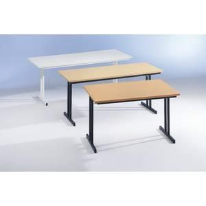table pliante avec plateau super robuste materiau plateau avec revetement melamine 160 0 cm x. Black Bedroom Furniture Sets. Home Design Ideas
