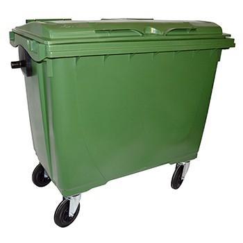 Bac de collecte roulants plastique 660l vert/vert