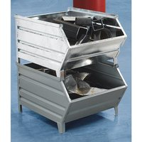 caisse palette en tole d 39 acier avec trappe d 39 acces l x l 1000 800x500 mm gris 5 pieces et. Black Bedroom Furniture Sets. Home Design Ideas
