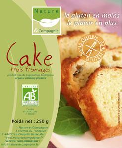 CAKE SALé 3 FROMAGES RéF : 01031