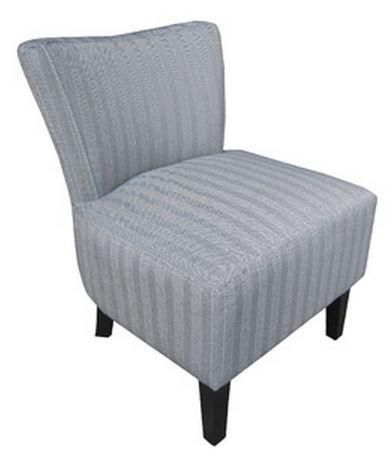 petit fauteuil volupte microfibre chevron gris. Black Bedroom Furniture Sets. Home Design Ideas