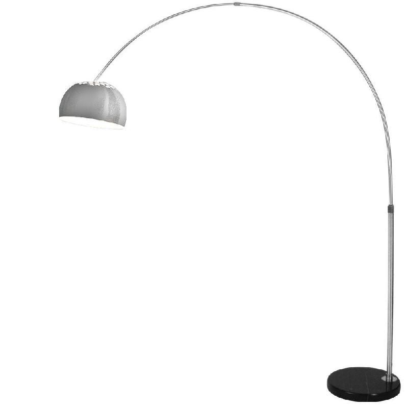 Lampadaire arc design lampe sur pied 1,90 m gris 2401022