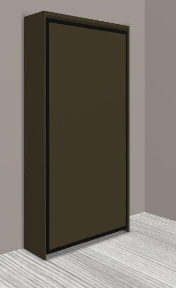 armoire lit escamotable cronos moka mat couchage 90 22. Black Bedroom Furniture Sets. Home Design Ideas
